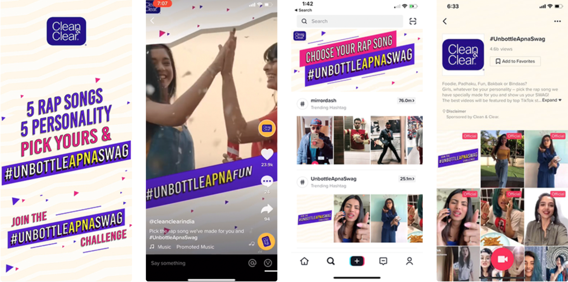 Clean & Clear TiKTok ad example