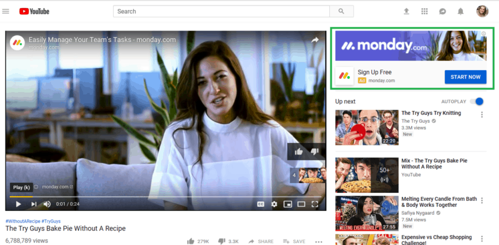 YouTube Display Ad Example